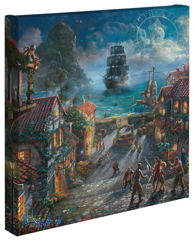 "Thomas Kinkade Disney Dreams ""Pirates of the Caribbean"" Limited and Open Canvas Giclee"
