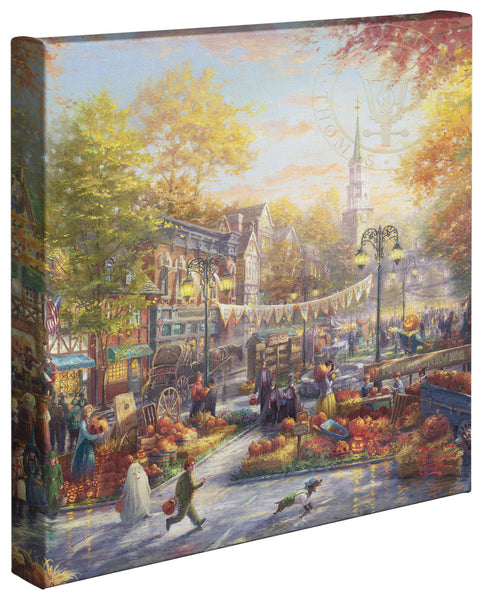 "Thomas Kinkade Studios ""The Pumpkin Festival"" Limited and Open Canvas Giclee"