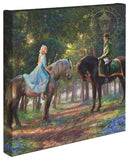 "Thomas Kinkade Disney Dreams ""Romance Awakens"" Canvas Giclee"