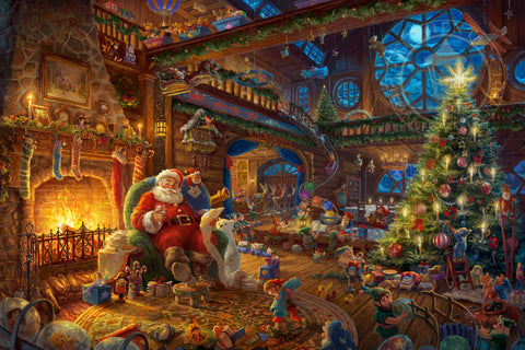 "Thomas Kinkade Studios ""Santa's Workshop"" Limited Edition Canvas Giclee"
