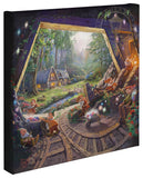 "Thomas Kinkade Disney Dreams Disney ""Snow White and the Seven Dwarfs"" Limited and Open Canvas Giclee"