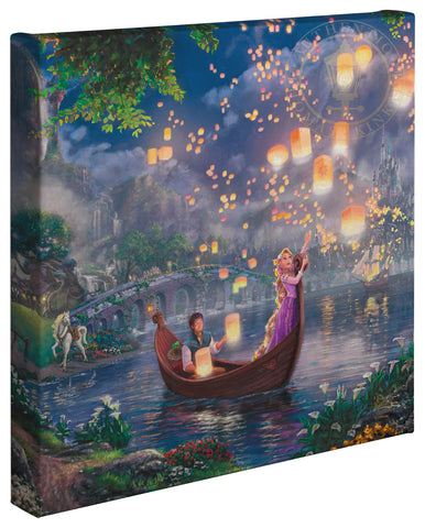 "Thomas Kinkade Disney Dreams ""Tangled"" Limited and Open Canvas Giclee"