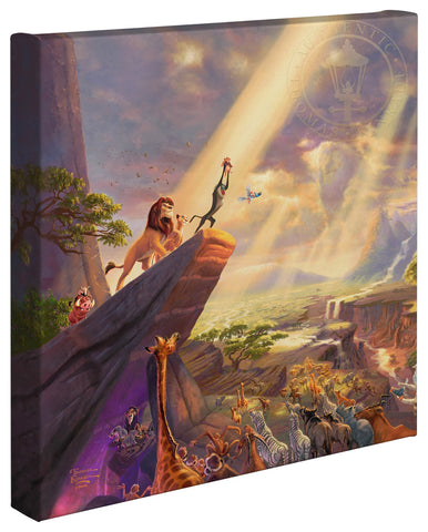 "Thomas Kinkade Disney Dreams ""The Lion King"" Limited and Open Canvas Giclee"