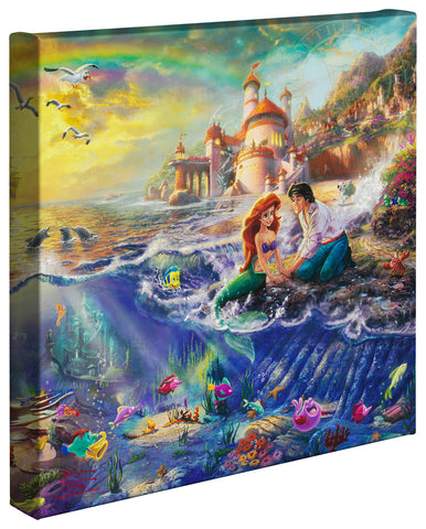 "Thomas Kinkade Studios ""The Little Mermaid"" Limited and Open Canvas Giclee"