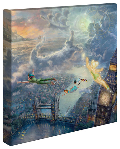 "Thomas Kinkade Disney Dreams ""Tinkerbell and Peter Pan Fly to Neverland"" Canvas Giclee"