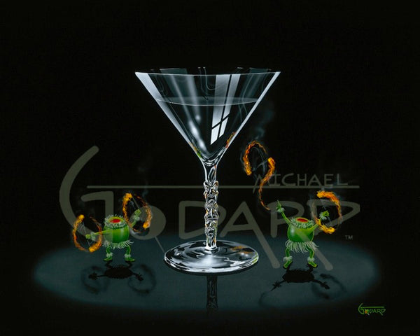 "Michael Godard ""Tiki Martini"" Limited Edition Canvas Giclee"