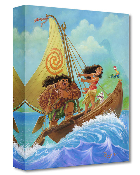"Tim Rogerson Disney ""Moana Knows the Way"" Limited Edition Canvas Giclee"