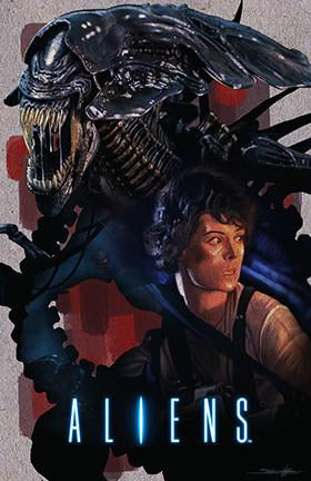 "Jed Thomas ""Aliens : Cinematic Tribute"" Limited Edition Metal"