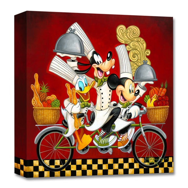 "Tim Rogerson Disney ""Wheeling With Flavor"" Limited Edition Canvas Giclee"