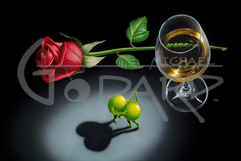 "Michael Godard ""White Wine Tango"" Limited Edition Canvas Giclee"