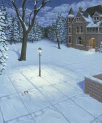 "Rob Gonsalves Rob Gonsalves ""White Blanket"" Giclée on Paper   7 x 9 "" Limited 395 Paper and Canvas Giclee"