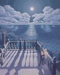 "Rob Gonsalves Rob Gonsalves ""Widow's Walk 2 "" Giclée on Paper 8 x 10 "" Limited 395 Paper and Canvas Giclee"