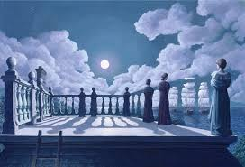 "Rob Gonsalves Rob Gonsalves ""Widow's Walk "" Giclée on Paper 8.25 x 12 "" Limited 395 Paper and Canvas Giclee"