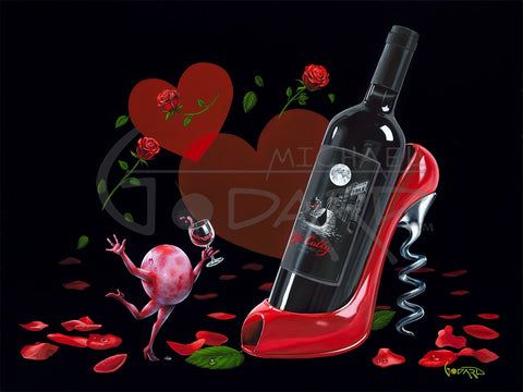 "Michael Godard ""Wine Shoe"" Limited Edition Canvas Giclee"