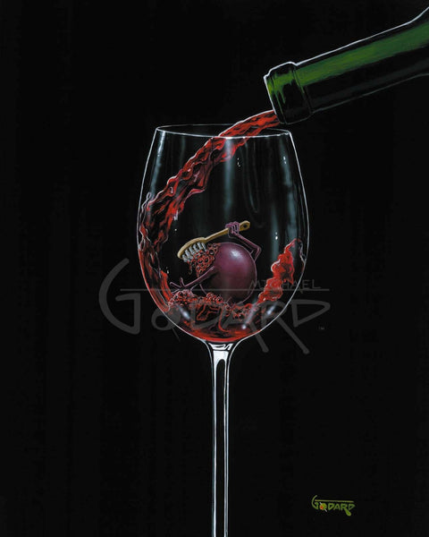 "Michael Godard ""Grape Bath"" Limited Edition Canvas Giclee"