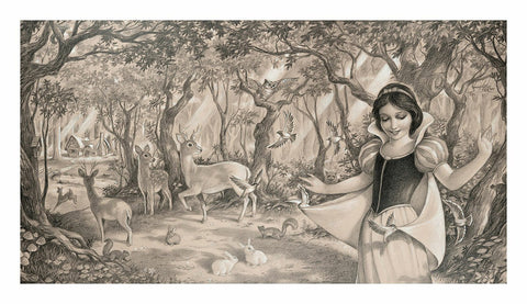 "Edson Campos Disney ""Woodland Princess"" Limited Edition Paper Giclee"