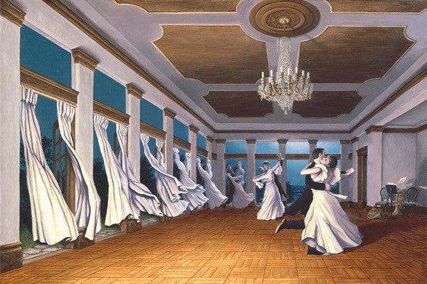 "Rob Gonsalves- "" The Dancing Wind""-Giclée on Paper 9"" h x 14"" w  Limited 300 - Art Center Gallery"