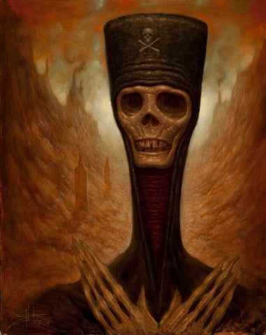 "Chet Zar Chet Zar ""The Dead Pope"" - Limited Edition SN - 17"" by 22""-Paper Paintings"