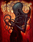 "Chet Zar Chet Zar "" Cthulhu"" - Limited Edition SN - 17"" by 22""-Paper Paintings"
