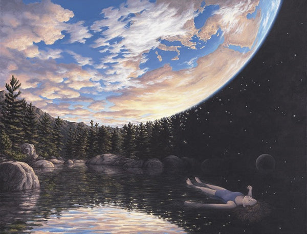 "Rob Gonsalves Rob Gonsalves- "" The Phenomenon of Floating""-Giclée on Paper 8.5"" h x 11"" SOLD OUT Paintings"