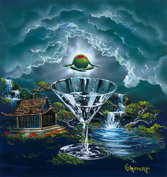 "Michael Godard ""Zen Martini 2: Tranquility Found"" Limited Edition Canvas Giclee"