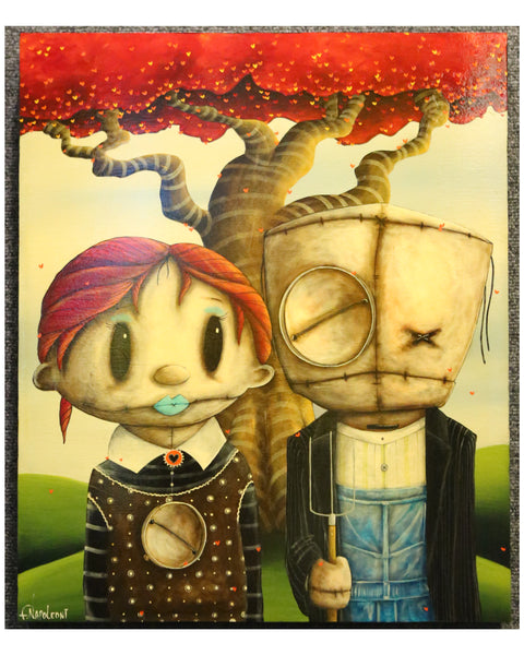 "Fabio Napoleoni ""American Surreal"" Original Acrylic on Wood"