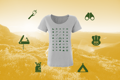 iconspeak camping t-shirt women