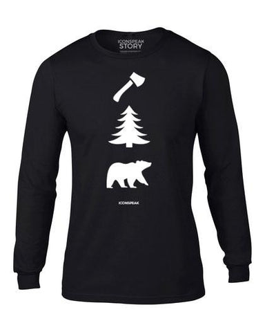 ICONSPEAK Lumberjack Story Longsleeve - ICONSPEAK Travel shirt, traveller t-shirt, backpacker and backpacking shirt