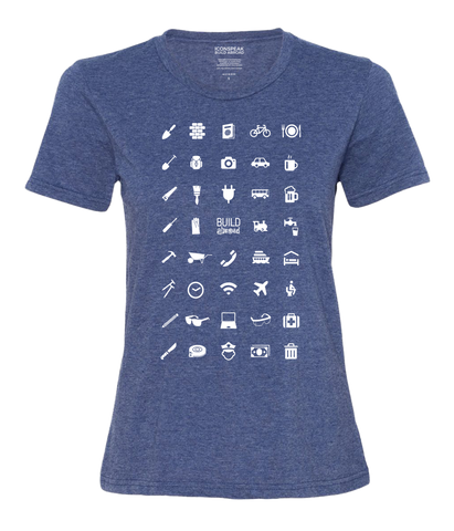 ICONSPEAK Build Abroad - official shirt Women - ICONSPEAK Travel shirt, traveller t-shirt, backpacker and backpacking shirt