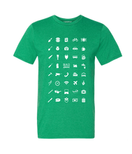 Load image into Gallery viewer, ICONSPEAK Build Abroad - official shirt Men - ICONSPEAK Travel shirt, traveller t-shirt, backpacker and backpacking shirt, icon language shirt