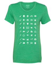 ICONSPEAK Build Abroad - official shirt Women - ICONSPEAK Travel shirt, traveller t-shirt, backpacker and backpacking shirt, icon language shirt