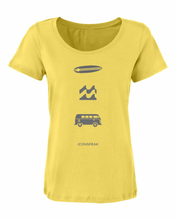 ICONSPEAK Surfer Story Women's Shirt - ICONSPEAK Travel shirt, traveller t-shirt, backpacker and backpacking shirt, icon language shirt