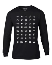 ICONSPEAK World Men's Longsleeve - ICONSPEAK Travel shirt, traveller t-shirt, backpacker and backpacking shirt, icon language shirt