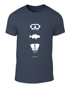 ICONSPEAK Diver Story Men's T-Shirt - ICONSPEAK Travel shirt, traveller t-shirt, backpacker and backpacking shirt, icon language shirt