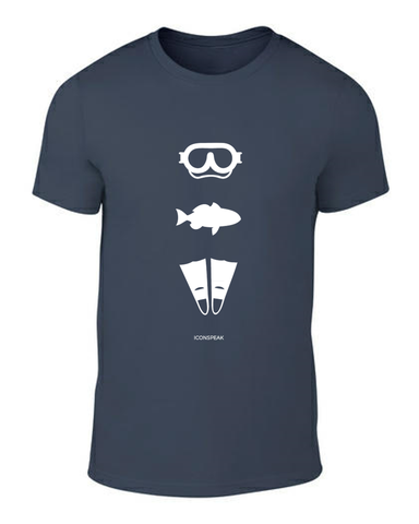 ICONSPEAK Diver Story Men's T-Shirt - ICONSPEAK Travel shirt, traveller t-shirt, backpacker and backpacking shirt