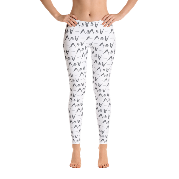 ICONSPEAK Yoga Story Leggings - ICONSPEAK Travel shirt, traveller t-shirt, backpacker and backpacking shirt, icon language shirt