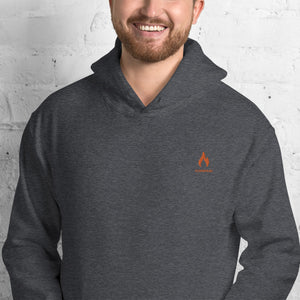 ICONSPEAK ONE Fire Hoodie Embroidered - ICONSPEAK Travel shirt, traveller t-shirt, backpacker and backpacking shirt, icon language shirt