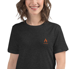 Load image into Gallery viewer, ICONSPEAK One Fire Women's Shirt Embroidered - ICONSPEAK Travel shirt, traveller t-shirt, backpacker and backpacking shirt, icon language shirt
