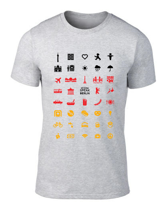 ICONSPEAK Berlin City Men's Shirt - ICONSPEAK Travel shirt, traveller t-shirt, backpacker and backpacking shirt, icon language shirt