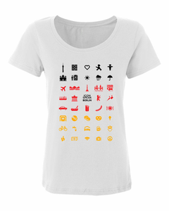 ICONSPEAK Berlin City Women's Shirt - ICONSPEAK Travel shirt, traveller t-shirt, backpacker and backpacking shirt, icon language shirt