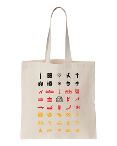 ICONSPEAK Berlin Tote bag - ICONSPEAK Travel shirt, traveller t-shirt, backpacker and backpacking shirt, icon language shirt