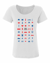 Load image into Gallery viewer, ICONSPEAK London City Women's Shirt - ICONSPEAK Travel shirt, traveller t-shirt, backpacker and backpacking shirt, icon language shirt