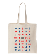 ICONSPEAK London Tote bag - ICONSPEAK Travel shirt, traveller t-shirt, backpacker and backpacking shirt, icon language shirt