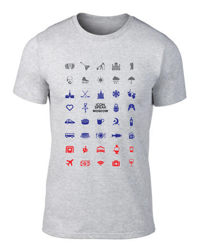 ICONSPEAK Moscow City Men's Shirt - ICONSPEAK Travel shirt, traveller t-shirt, backpacker and backpacking shirt, icon language shirt