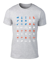 Load image into Gallery viewer, ICONSPEAK New York City Men's Shirt - ICONSPEAK Travel shirt, traveller t-shirt, backpacker and backpacking shirt, icon language shirt