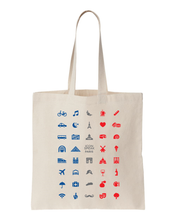 Load image into Gallery viewer, ICONSPEAK Paris Tote bag - ICONSPEAK Travel shirt, traveller t-shirt, backpacker and backpacking shirt, icon language shirt