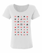 Load image into Gallery viewer, ICONSPEAK Tokyo City Women's Shirt - ICONSPEAK Travel shirt, traveller t-shirt, backpacker and backpacking shirt, icon language shirt