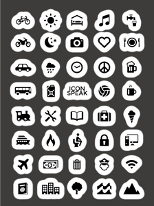 ICONSPEAK World Edition Sticker - ICONSPEAK Travel shirt, traveller t-shirt, backpacker and backpacking shirt, icon language shirt