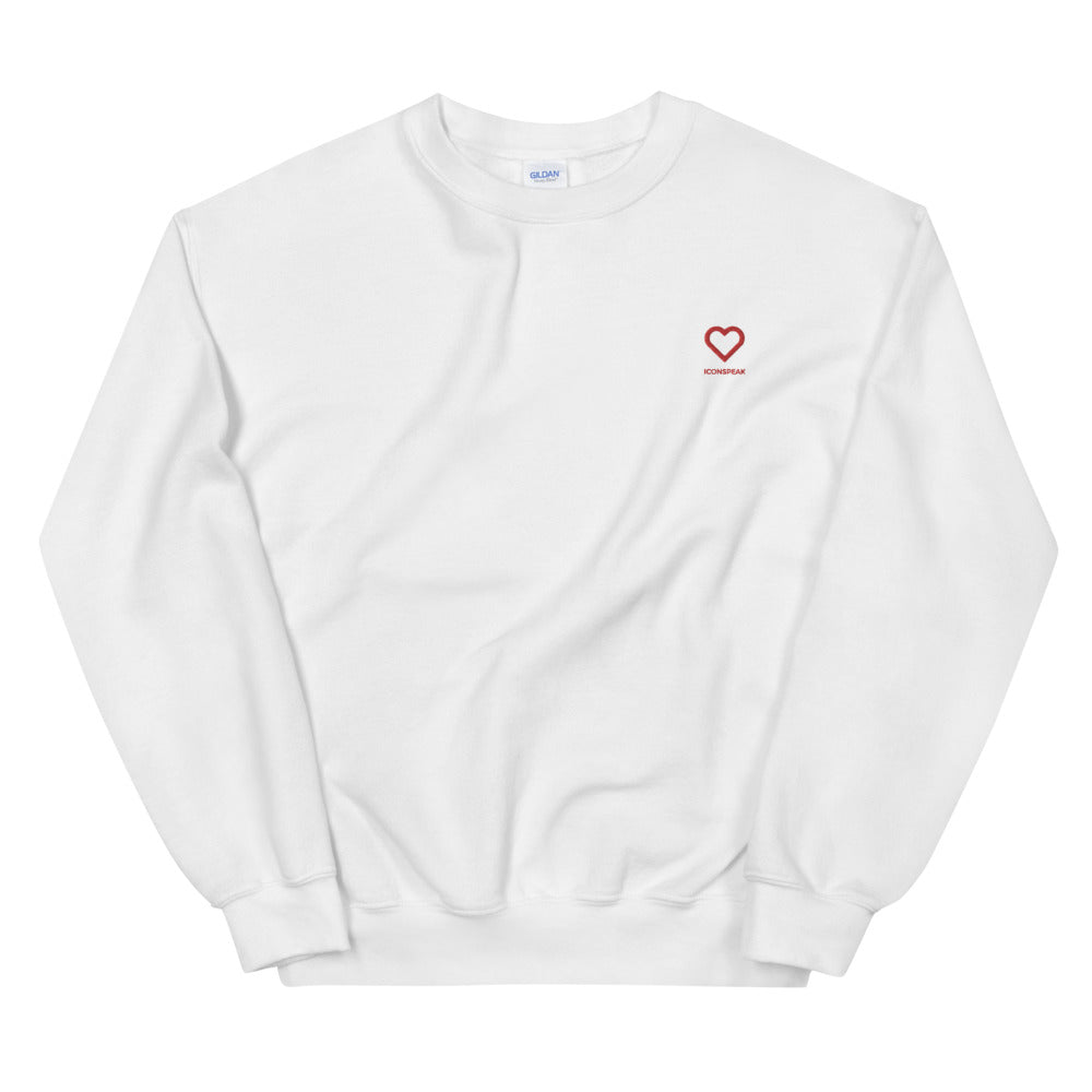 ICONSPEAK One Love Sweatshirt Embroidered - ICONSPEAK Travel shirt, traveller t-shirt, backpacker and backpacking shirt, icon language shirt