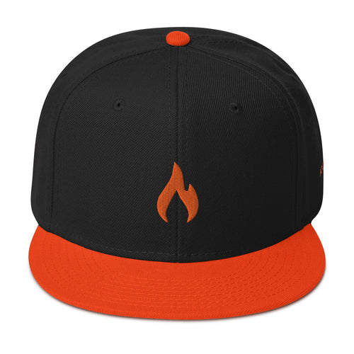 ICONSPEAK One Fire Snapback - ICONSPEAK Travel shirt, traveller t-shirt, backpacker and backpacking shirt, icon language shirt